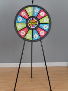 "12-Slot Black Floor Stand 31"" Prize Wheel"