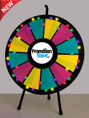 12 to 24 Slot Adaptable Table Top Prize Wheel with Lights