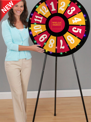 12-Slot Floor Classic Prize Wheel with Lights