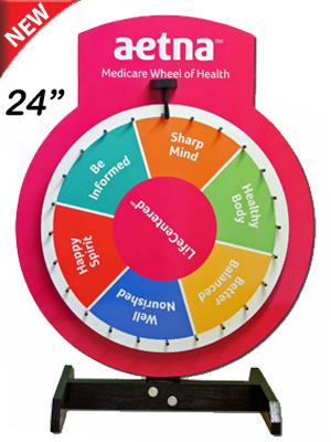 "24"" Custom Printed Prize Wheel - Prize Wheels Direct"