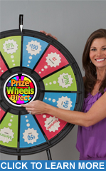 "12-Slot Black 31"" Table Top Prize Wheel"