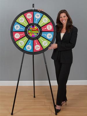 12 Slot Black Floor Stand Prize Wheel