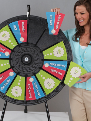 Adaptable Table Top Prize Wheel
