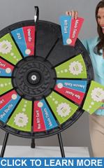 "12-24 Slot Adaptable Blk 31"" Table Top Prize Wheel"
