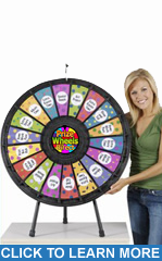 "18-Slot Black 31"" Table Top Prize Wheel"