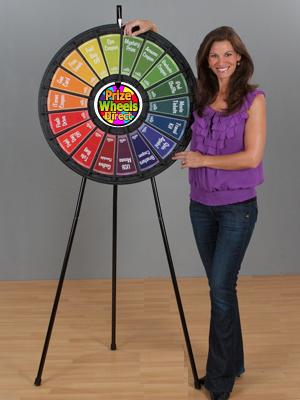18 Slot Black Floor Stand Prize Wheel