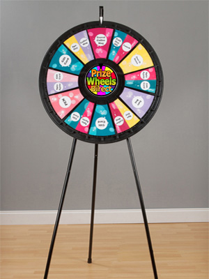 Easy To Use - Black Floor Stand Prize Wheels!