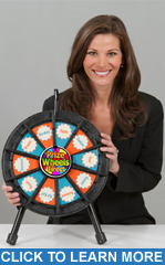 "10-Slot Black 14"" Table Top Micro Wheel - Prize Wheels Direct"