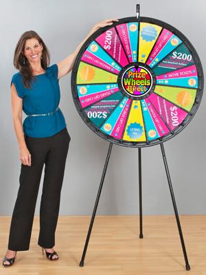 Big Floor Stand Prize Wheels