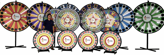 Custom Prize Wheels - Branded Prize Wheel Game - Large Selection Available