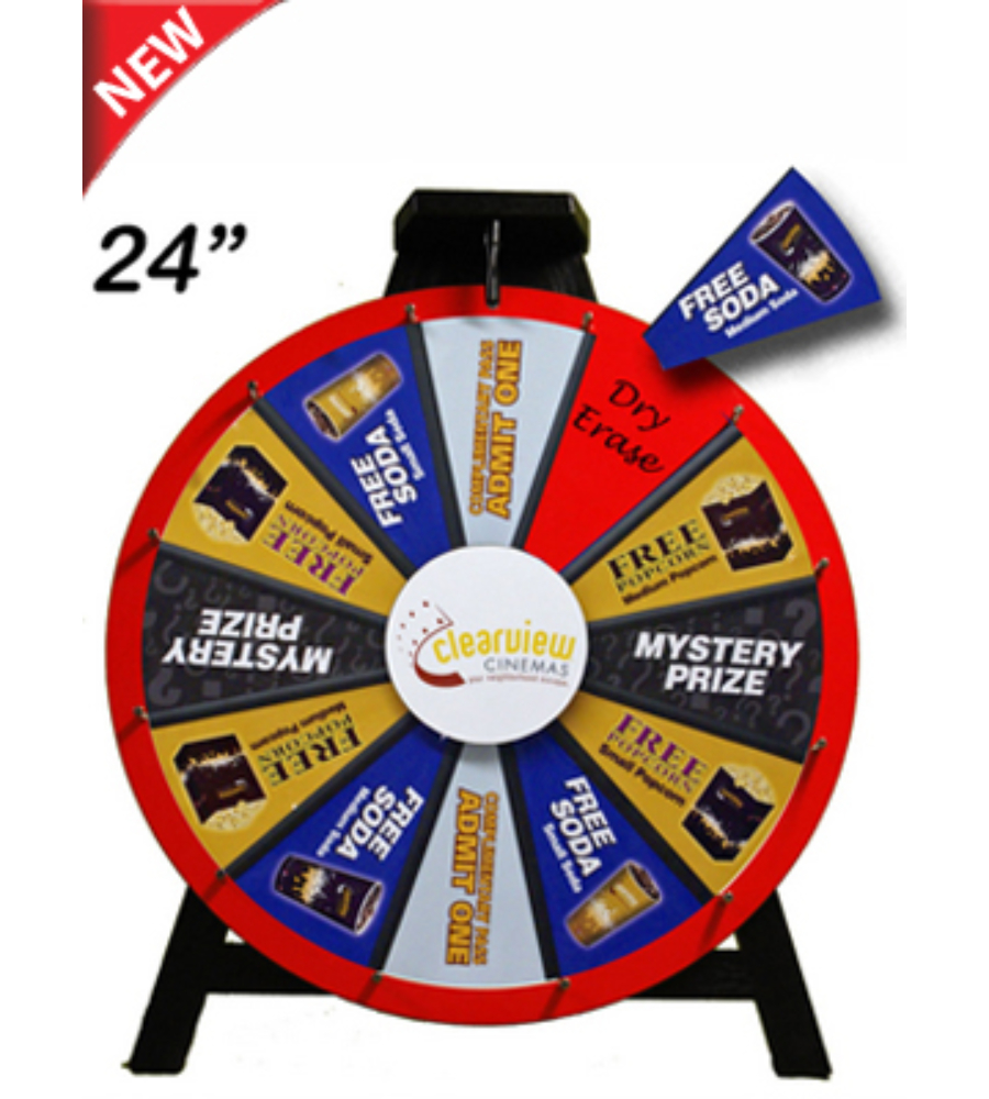 "24"" Insert Your Graphics Prize Wheel - Prize Wheels Direct"