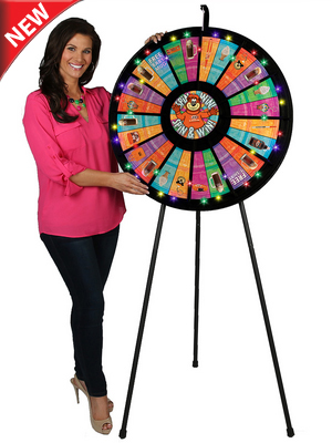 12 to 24 Slot Adaptable Prize Wheel Floor Stand with Lights - Economy Lighted Prize Wheels